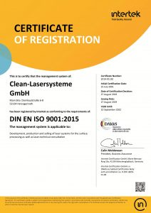 Certification DIN ISO