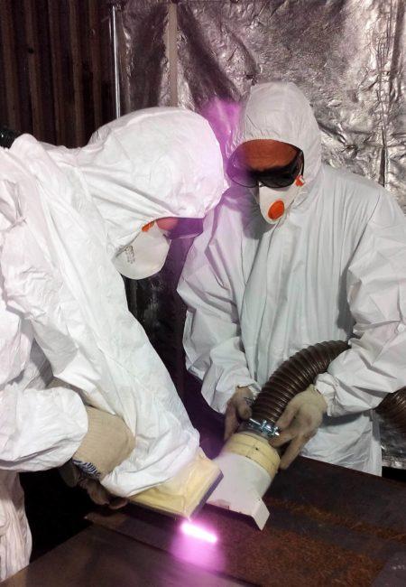 Industriedienstleistung Laserreinigung Dekontamination