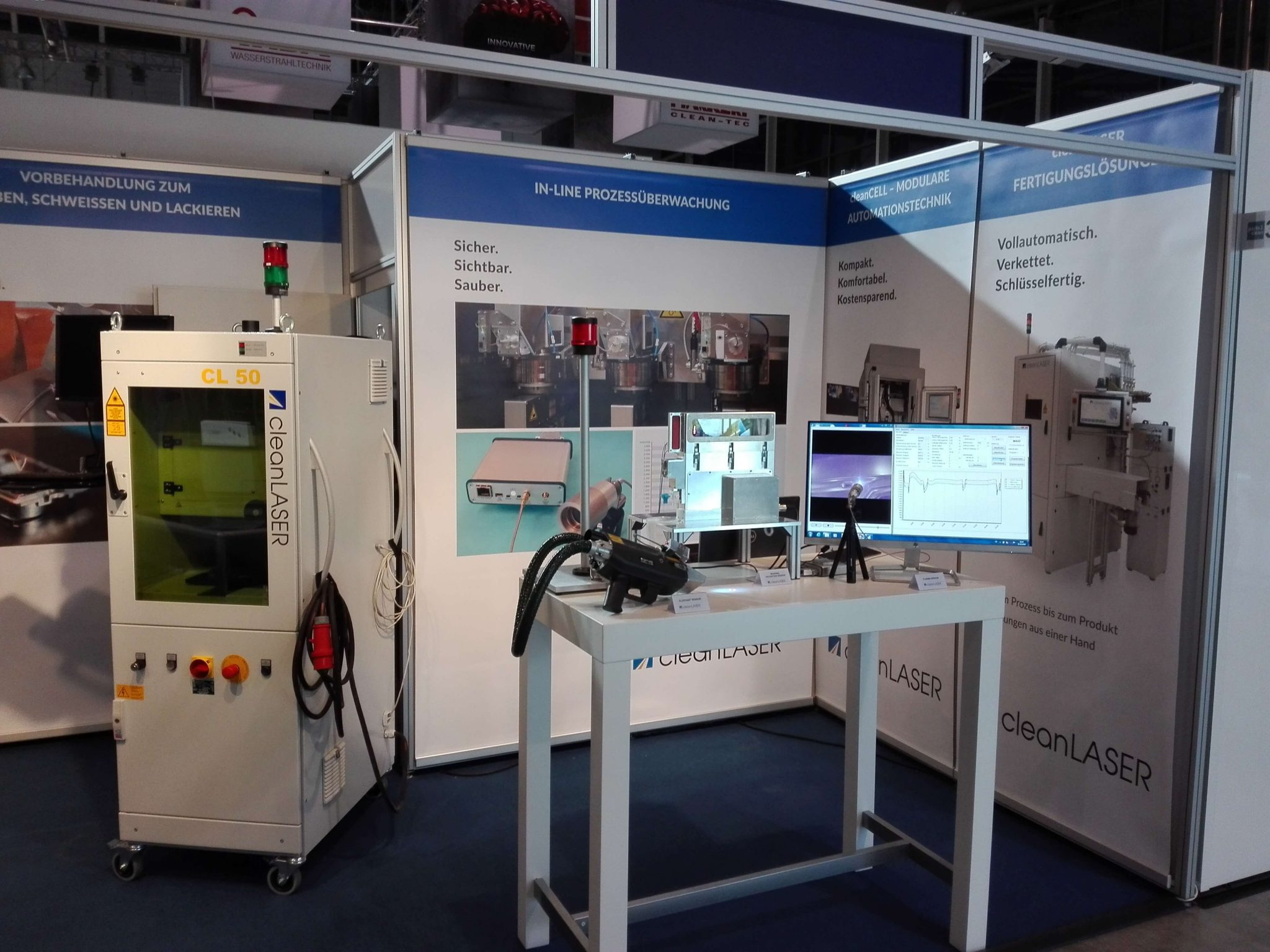 cleanLASER Messestand parts2clean Stuttgart