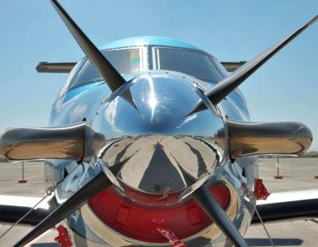 Front Flugzeug Pilatus