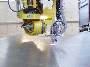 Automation großflaechige Laserreinigung