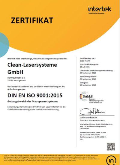 ISO Zertifikat Qualitaet