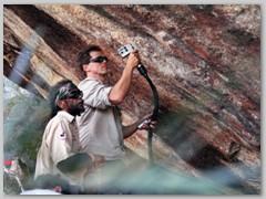 Laserreinigung an australischer Felsmalerei