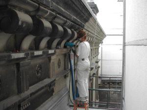Konservator Fassadenreinigung Geruest