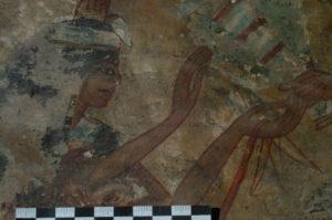 Wandmalerei Aegypten ungereinigt