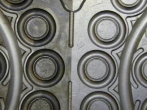 Detail gereinigte und ungereinigte Form O-Ring