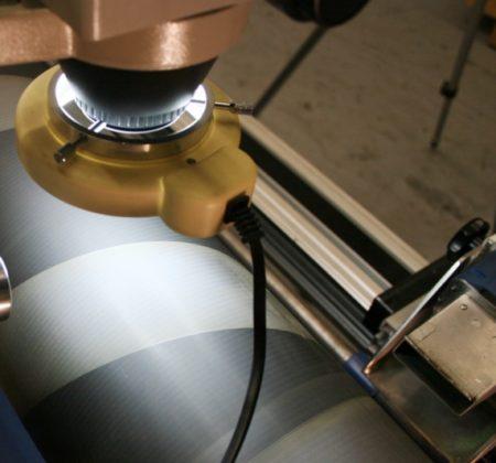 Druckwalze Mikroskop Detail