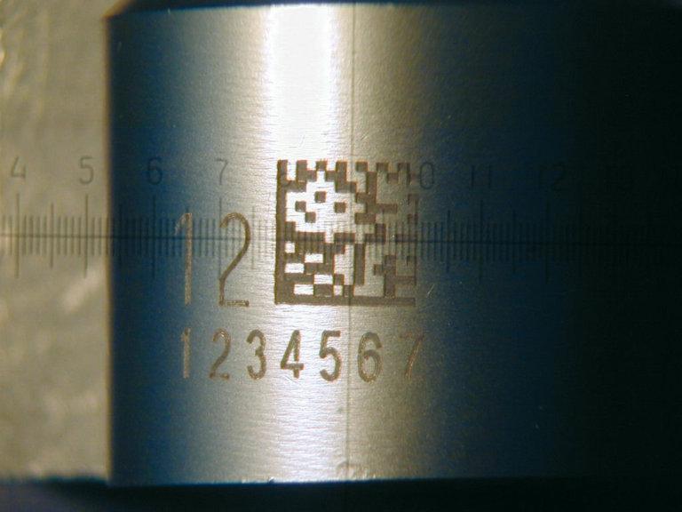 Beschriftung und Codierung auf Stahlwelle