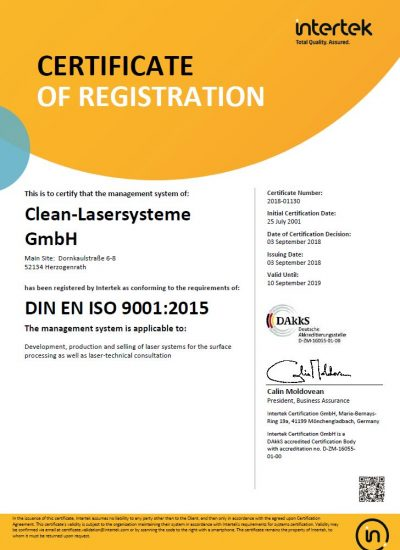 english ISO 9001 certificate
